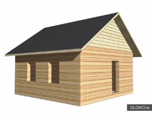 Сруб из бруса для дома или бани размером 6х6м..