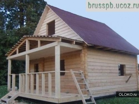 Дом из бруса размерам 6м 6м 2м.