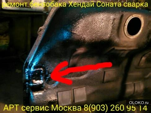 ремонт бензобака Хендай Соната в Москве.