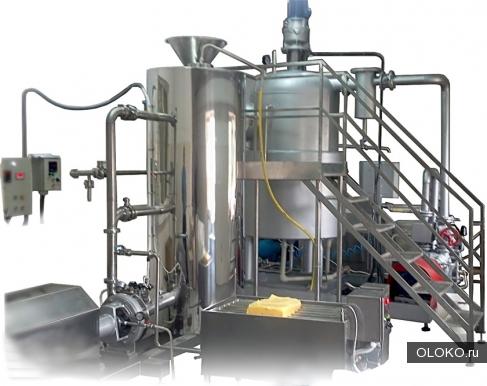 Оборудование для производства сгущенного молока из сухих компонентов.