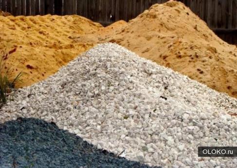 Песок, щебень, смесь ПГС.