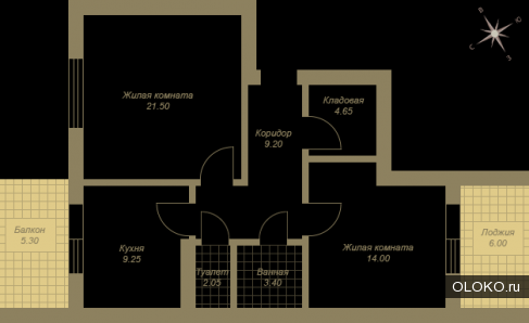 Продам 2-к квартиру, 64 м², 2/3.