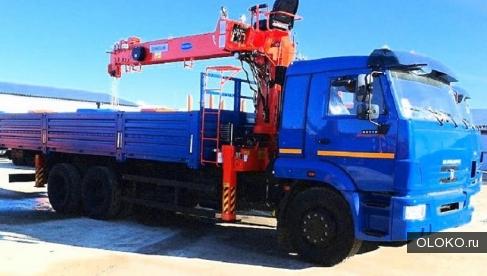 Перевозка грузов на бортовых машинах с краном манипулятором.