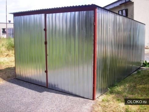 гараж металлический, 18 м².