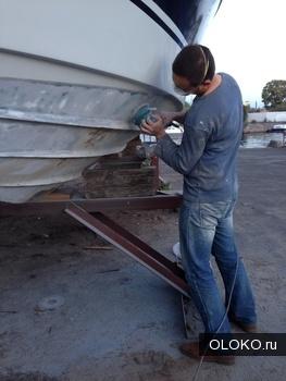 ремонт пластика на катера лодки яхты.