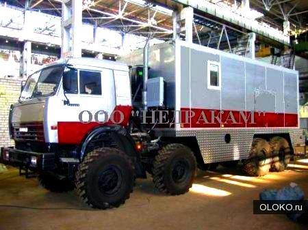 Автомобиль исследования нефтегазовых скважин на шасси Камаз.