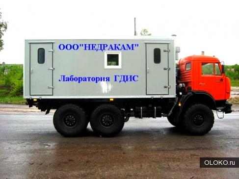 АИС мобильная лаборатория подъемник гидродинамических геофизических исследований на шасси Камаз.