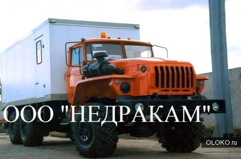 Каротажный подъемник лаборатория гис шасси Урал.