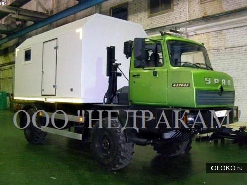 Каротажный подъемник лаборатория гис шасси Урал 43206.