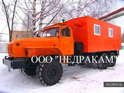 Подъемник исследования нефтегазоконденсатных скважин на шасси Урал 4320.