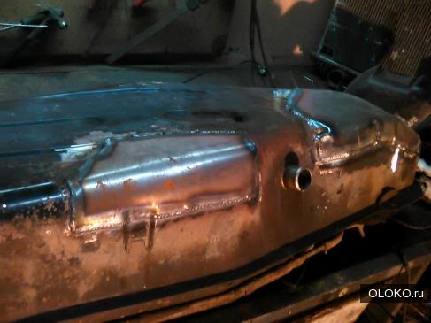 ремонт и сварка бензобака Мицубиси Паджеро, отремонтировать топливный бак джип Чероки в Москве.