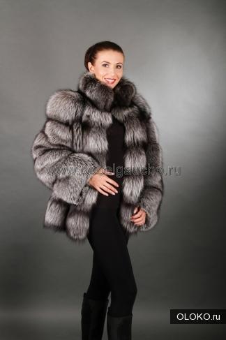 Полушубки, жакеты и меховые куртки из лисы и чернобурки.