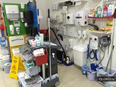 Оборудование и инвентарь для профессиональной уборки.