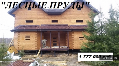 Деревянный дом на две семьи, проект Лесные Пруды.
