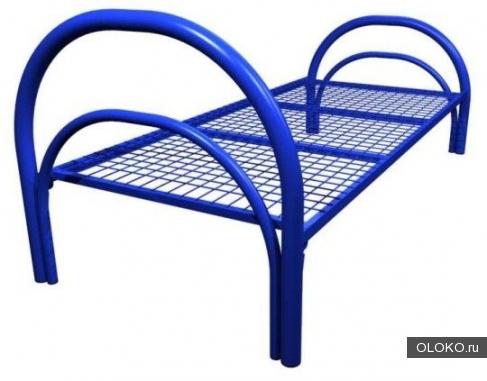 Двухъярусные металлические кровати, трёхъярусные металлические кровати, кровати металлические одноярусные с ДСП спинками.