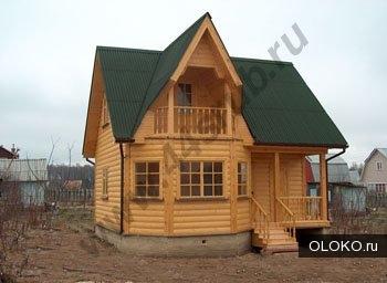Дом из бруса 7х7, проект Подмосковная усадьба.