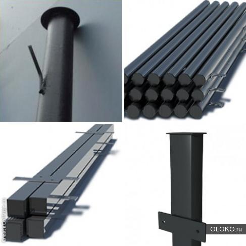 Столбы металлические для забора оптом и в розницу с доставкой.