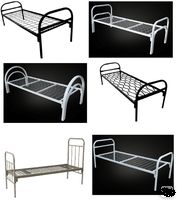 Кровати металлические 1-2 яруса.