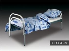 Кровати железные одноярусные для санаториев, кровати металлические с ДСП спинками для больниц, кровати по низким ценам..