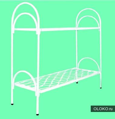 Двухъярусные металлические кровати для бытовок, кровати для общежитий, кровати металлические для студентов, для рабочих..