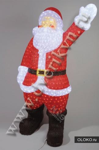Светодиодные акриловые новогодние фигуры Дед Мороз.