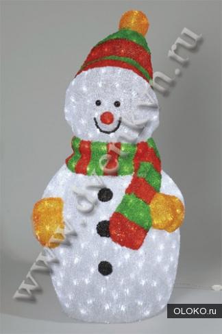Декоративная новогодняя фигура Снеговик.
