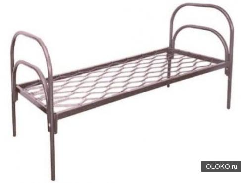 Кровати металлические одноярусные, кровати металлические с ДСП спинками, кровати для больниц..