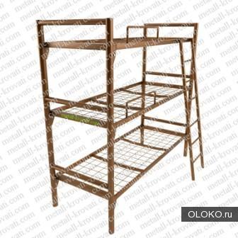 Кровати металлические со сварной сеткой, Кровати односпальные, полуторные.
