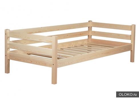 Кровать деревянная 80х190 см.