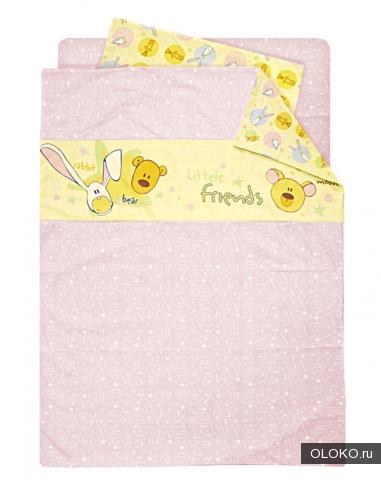Постельное белье в детскую кроватку для девочки.