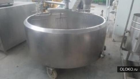 Ванна сырная сыродельная ванна , объем 1 куб. м. , рубашка, термоизоляция, мешалка.
